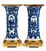 Detail images:  Paar Kangxi Vasen mit Ormolu-Montierung