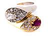 Detail images:  Ring mit Rubin- und Diamanttropfen