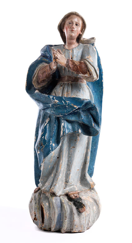 Schnitzfigur der Maria Immaculata