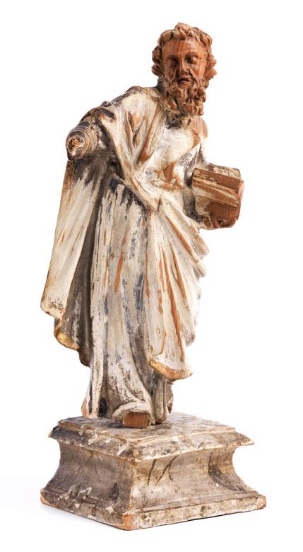 Schnitzfigur eines Apostels