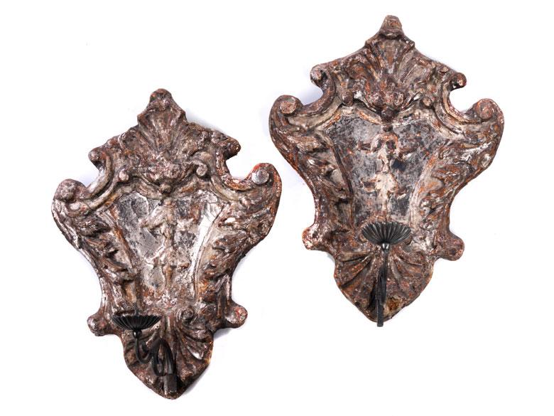 Paar Rokoko-Wandappliken