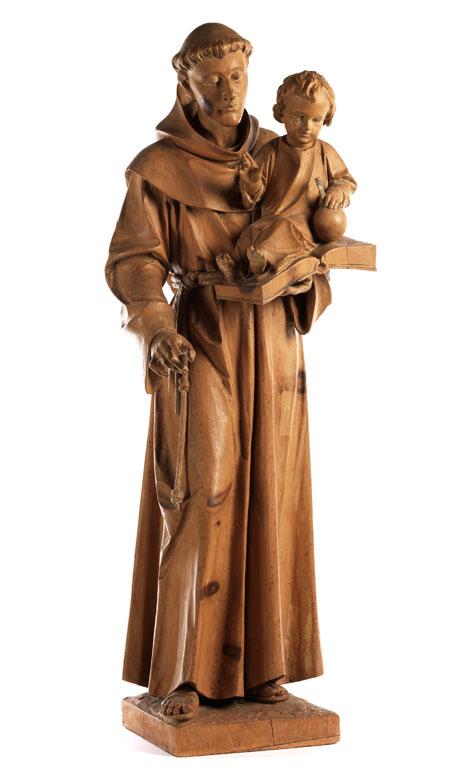 Schnitzfigur des Heiligen Antonius von Padua