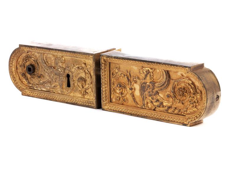 † Seltenes Flügeltür-Zierschloss aus der Residenz in München