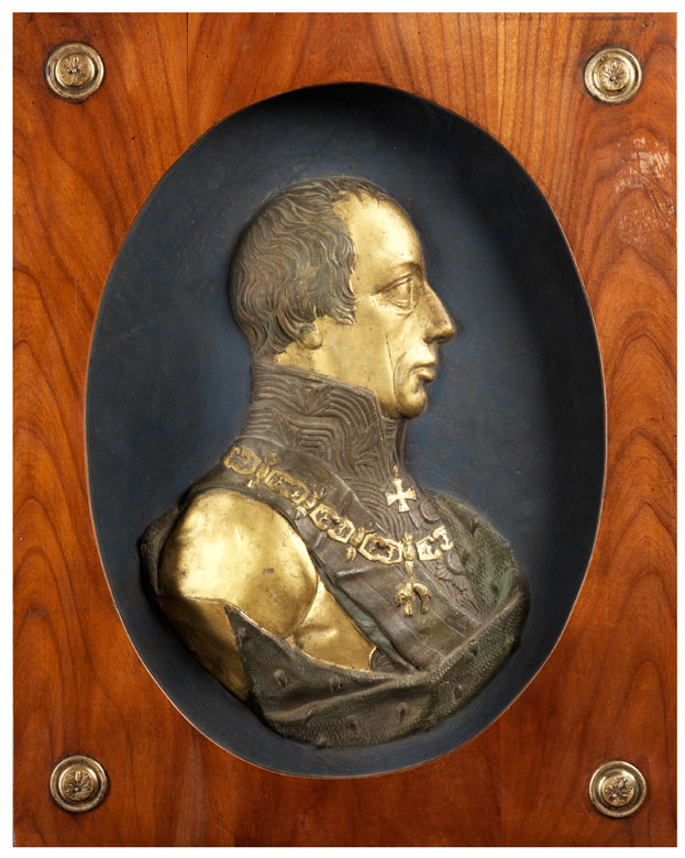 Reliefbüste des Habsburger Herrschers Franz II, 1768 - 1835