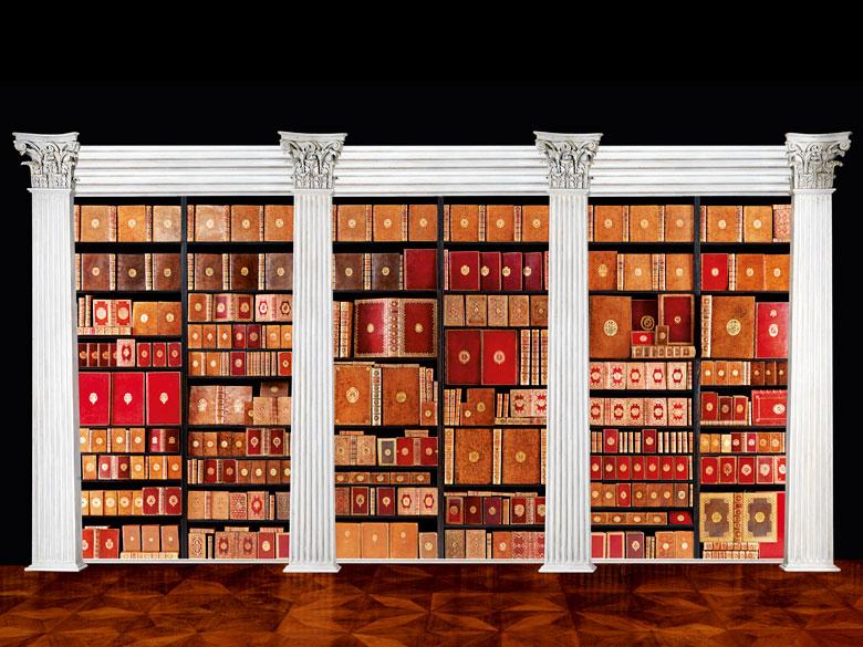 † Eine bedeutende Sammlung Bücher mit den vergoldeten Wappen herausragender Persönlichkeiten des 18. Jahrhunderts