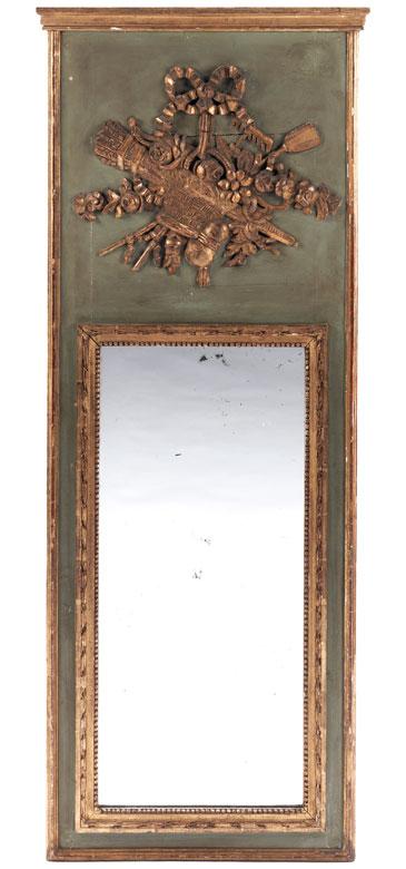 louis xvi trumeau spiegel hampel kunstauktionen. Black Bedroom Furniture Sets. Home Design Ideas