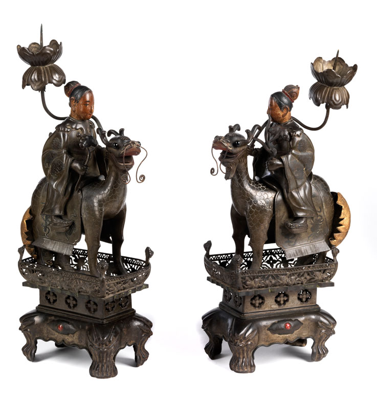 Paar Reiterfiguren