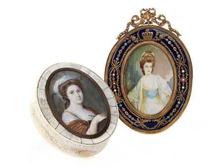 Zwei Miniaturmalereien