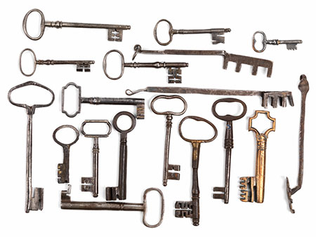 Konvolut von 18 Schlüsseln