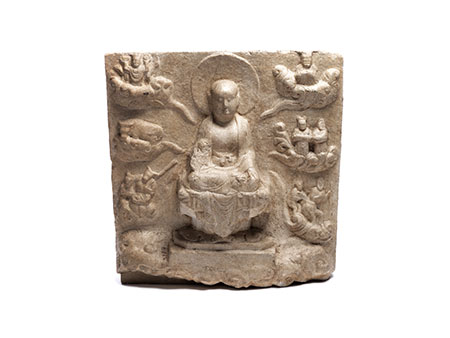 Seltene buddhistische Stele