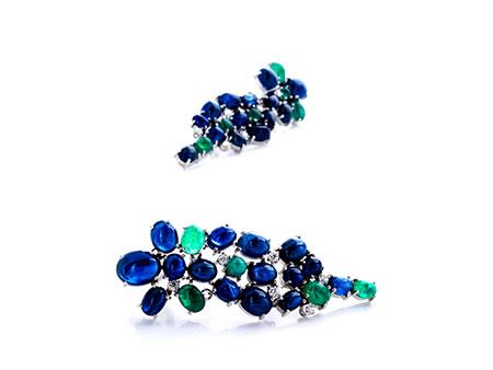 Saphir-Smaragd-Ohrhänger