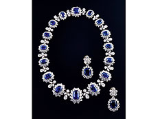 † Saphir-Diamant-Set von Bulgari