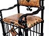 Detail images: Paar große Eisenarmlehnsessel