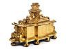 Detail images: Bedeutendes großes Altarkreuz mit Elfenbein-Corpus über vergoldetem Standsockel