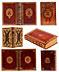 Detail images: † Eine hochdekorative Bibliothek des 18. Jahrhunderts mit 656 Bänden