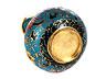 Detail images: Cloisonné Vase mit Chrysanthemen