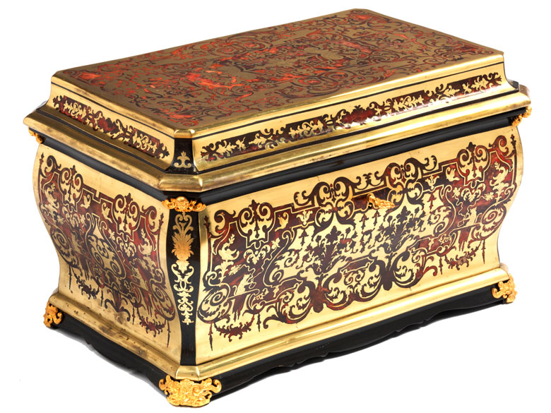 Prächtige Louis XIV-Kassette in Boullemarketerie von André-Charles Boulle