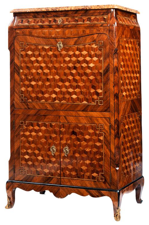 Außergewöhnlicher Louis XV-Schreibschrank