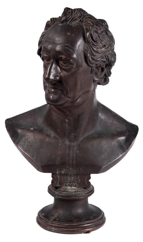 Bronzebüste des Dichters Johann Wolfgang von Goethe