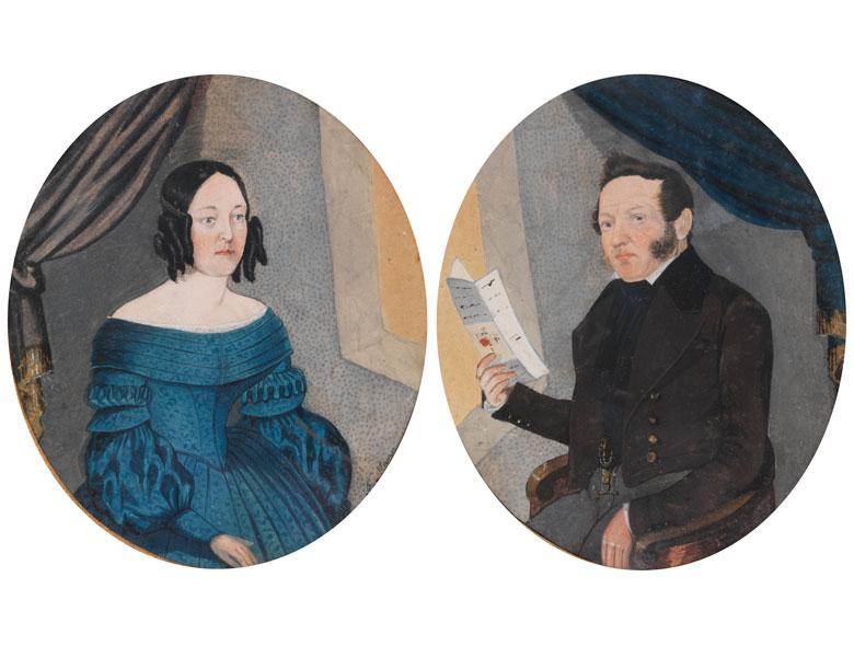 Josef Mann, 1797 Wien – 1845, Aquarellmaler