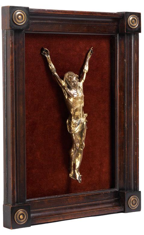 Corpus Christi in Bronze und Feuervergoldung
