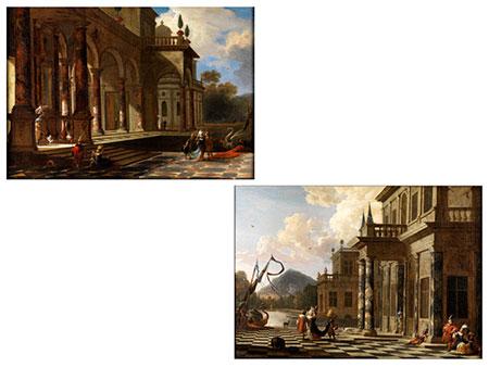 Jacob Peeters 1675 Antwerpen - 1721 sowie Hendrik van Minderhout, 1632 Rotterdam - 1696 Antwerpen