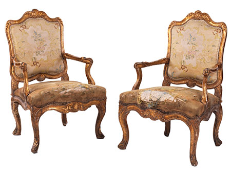 Paar Louis XV-Fauteuils