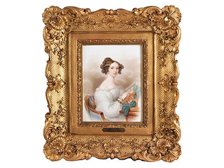 Porzellanbild von Claudius Herr, 1791 Wien - nach 1838 ebenda