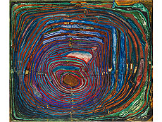 Friedensreich Hundertwasser, NOSTALGIA FOR THE BEYOND – A SPIRALOID, 1958