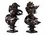 """Detail images:  Paar Art Nouveau-Bronzebüsten """"Begegnung zwischen Orient und Okzident"""""""