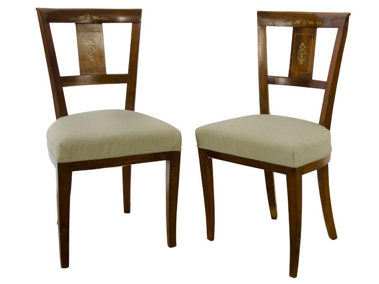 Paar Klassizistische Stühle HAMPEL Fine Art Auctions