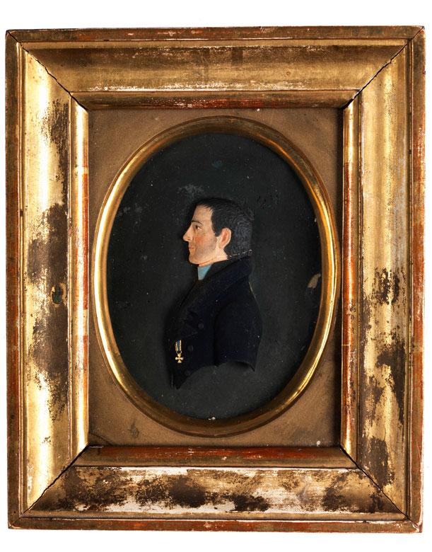 Miniaturreliefportrait von Johann Baptist Pendel, 1791 - 1859