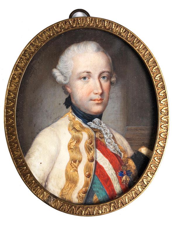 Miniaturportrait von Erzherzog und Kaiser sowie Fürst der Toskana Leopold von Österreich