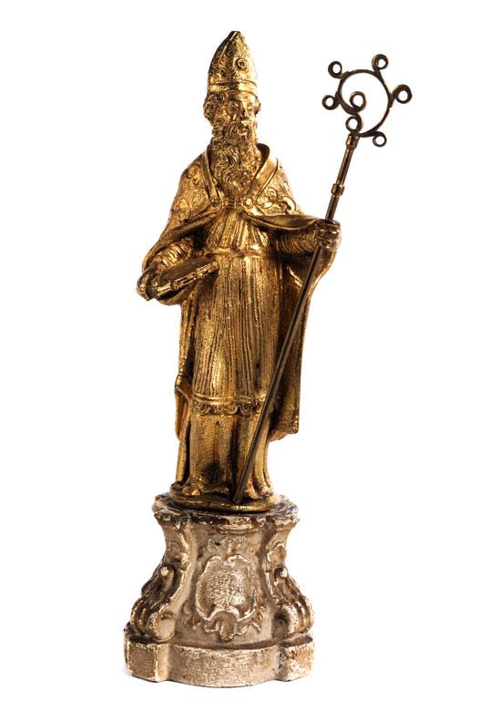 Kleine vergoldete Bronzefigur