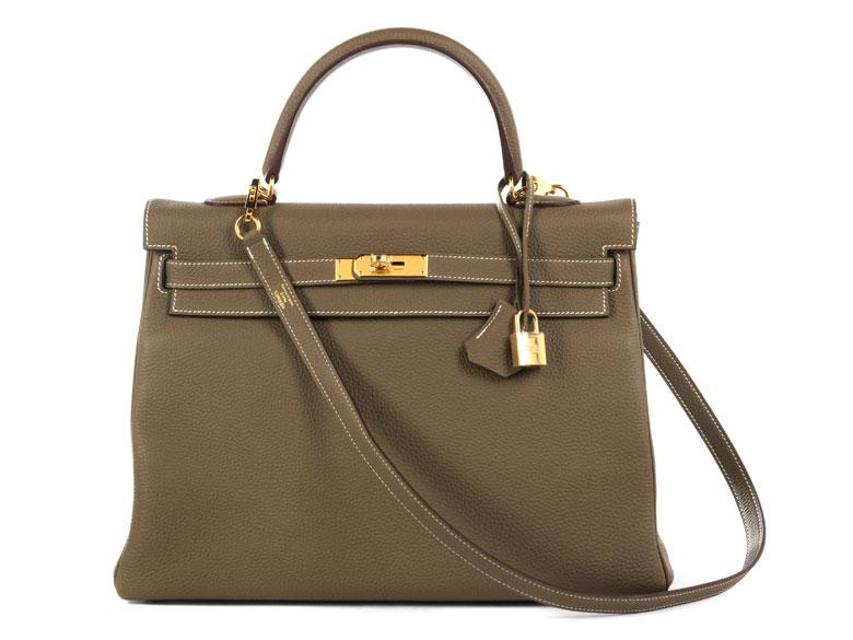 Hermès Kelly Bag 35 cm Etoupe