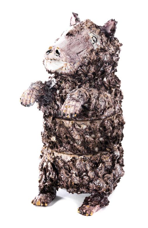 Gröninger Schreibzeug in Form eines stehenden Bären