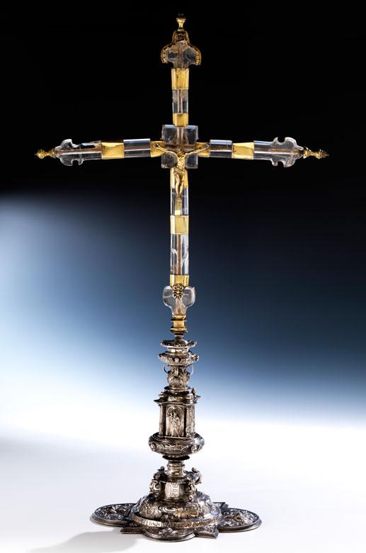 Altarkreuz aus Bergkristall