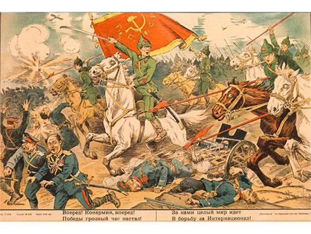 Unbekannter russischer Graphiker der Revolutionszeit