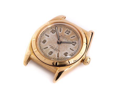 ROLEX Bubble Back in Rotgold, Ref 4777