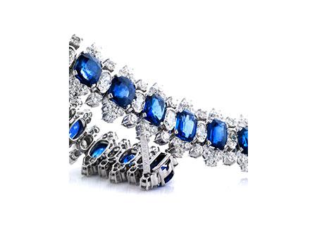 Saphir-Diamantarmband