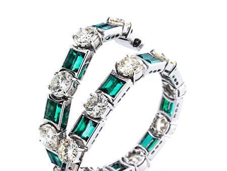 Smaragd-Brillantarmband