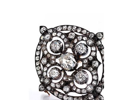 Antike Diamantbrosche