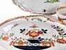 Detail images:  Konvolut von Meissener Porzellan mit Tischchenmuster