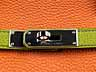Detail images: † Hermès Birkin Bag 40 cm Special Order Horseshoe Orange & Vert Anis
